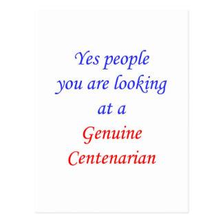 100  Genuine Centenarian Postcard