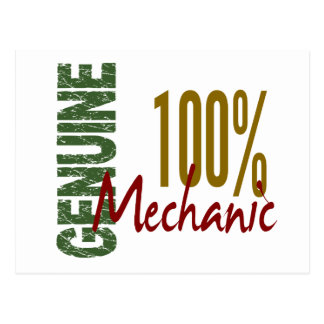 100% Genuine MECHANIC Postcard