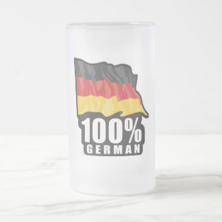 100% German Frosted Glass Beer Mug