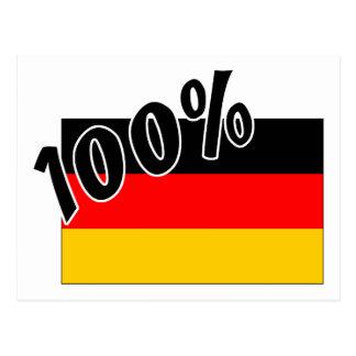100% German Postcard