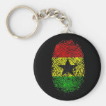 100% Ghanian Ghana DNA pride gifts Keychains