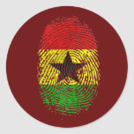 100% Ghanian Ghana DNA pride gifts Classic Round Sticker