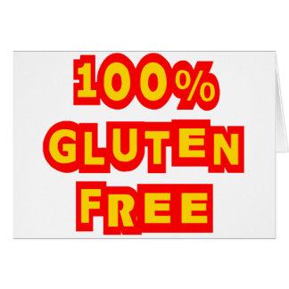 100% Gluten Free Card
