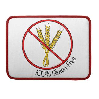 """100% Gluten-Free"" MacBook Pro Sleeve"