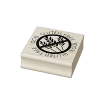 100% Gluten Free No Gluten No Wheat Symbol Rubber Stamp
