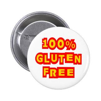 100% Gluten Free Pinback Button