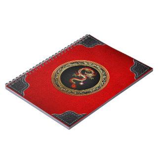 [100] Golden Chinese Dragon Fucanglong Notebook