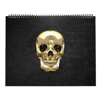 [100] Golden Human Skull Calendars