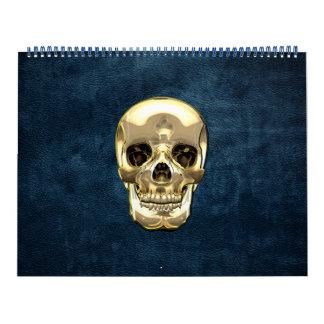 [100] Golden Human Skull Calendar