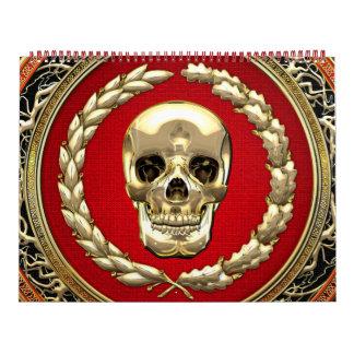 [100] Golden Skull Calendar