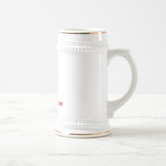 100% Grade A Human - Red Meat 18 Oz Beer Stein