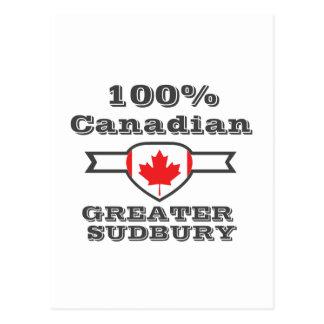 100% Greater Sudbury Postcard