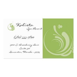 100 Green Logo Spa Resort Retreat Business Card