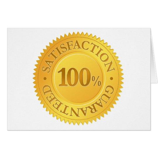 100% Guarantee Card