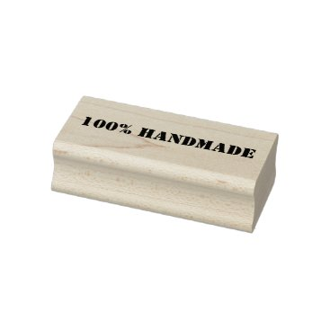 100% Handmade Wooden Block Mounted Rubber Stamp