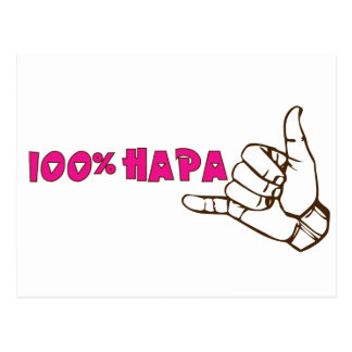 100% Hapa Postcard