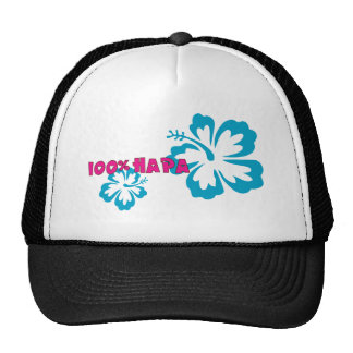 100% Hapa (with Hibiscus) Trucker Hat
