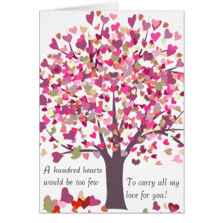 100 Hearts to Few - Valentine Card - 2