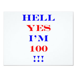 100 Hell yes Card