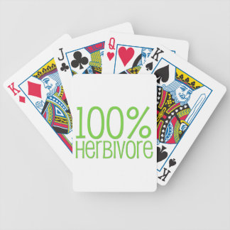 100% Herbivore Bicycle Playing Cards