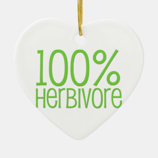 100% Herbivore Ceramic Ornament