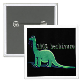 100% herbivore dinosaur button