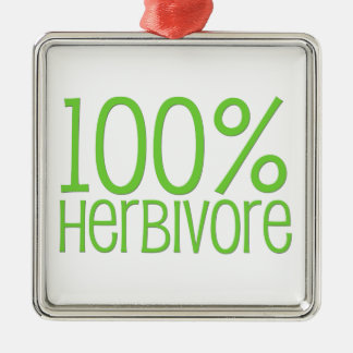 100% Herbivore Metal Ornament