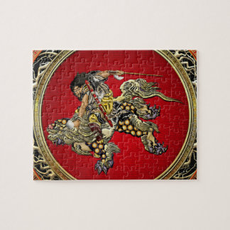 [100] Hokusai - Shoki Riding Shishi Lion Jigsaw Puzzle