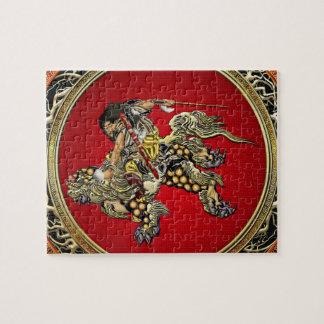 100 Hokusai - Shoki Riding Shishi Lion Puzzles