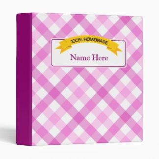 100% Homemade Food Label - Pink Binder