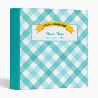 100% Homemade Food Label - Teal Binder