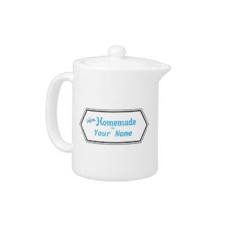 100% Homemade Food Label Teapot