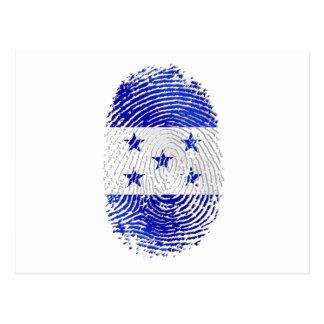 100% Honduran flag of Honduras DNA fingerprint Postcard