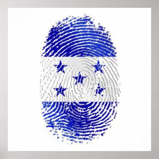 100% Honduran flag of Honduras DNA fingerprint Poster