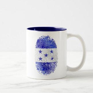100% Honduran flag of Honduras DNA fingerprint Two-Tone Coffee Mug