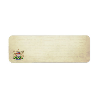 [100] Hong Kong Historical 1959-1997 Coat of Arms Return Address Labels