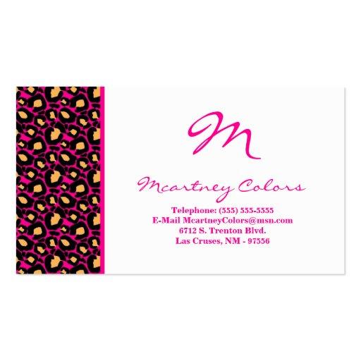 100 Hot Pink Cheetah Print Business Card