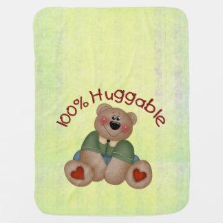 100% Huggable Boy Stroller Blanket