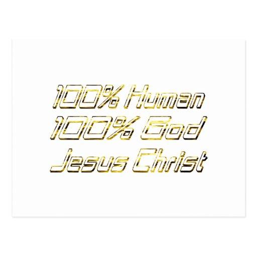 100% Human God Doré Postcard