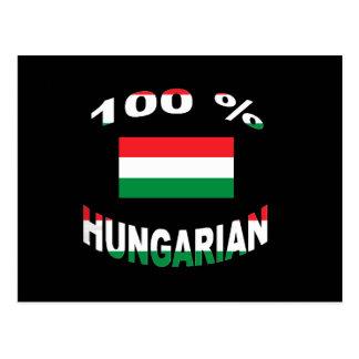 100% Hungarian Postcard