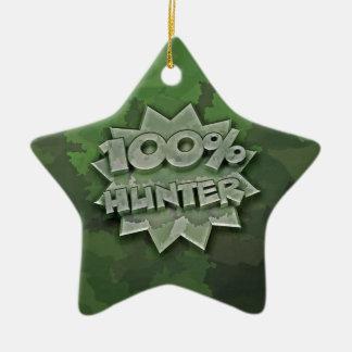 100% Hunter Ceramic Ornament