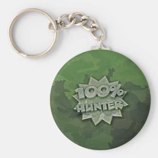 100% Hunter Keychain