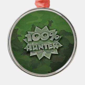 100% Hunter Metal Ornament