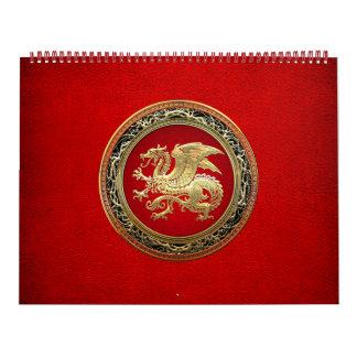 [100] Icelandic Dragon, Landvættir [Gold] Calendar