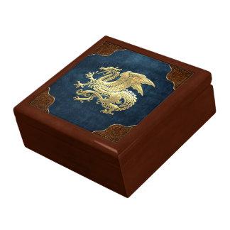 [100] Icelandic Dragon, Landvættir [Gold] Keepsake Boxes