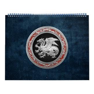 [100] Icelandic Dragon, Landvættir [Silver] Calendar
