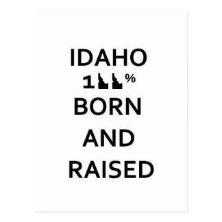 100% Idaho Born and Raised Postcard