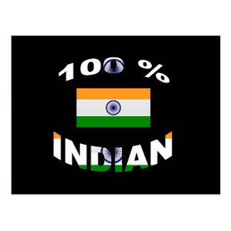 100% Indian Postcard