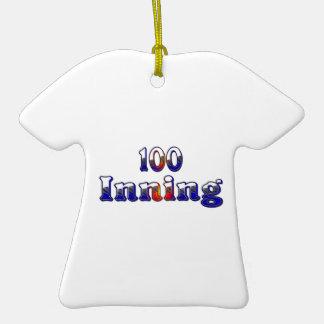 100 Inning Ceramic T-Shirt Ornament
