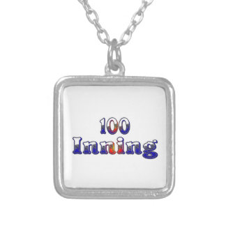 100 Inning Square Pendant Necklace